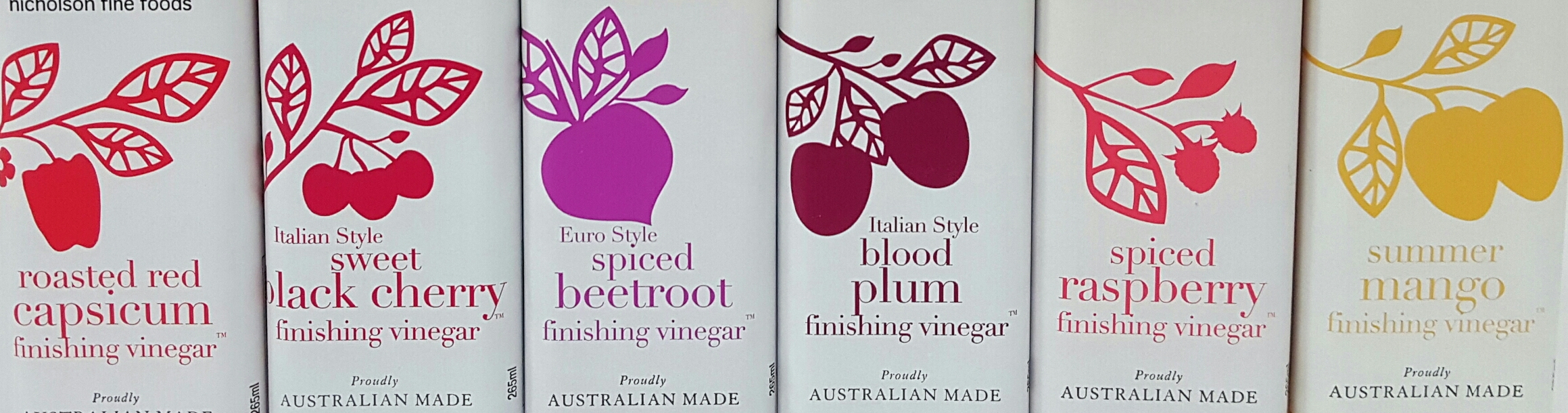 Finishing Vinegars new labels