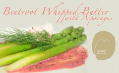 Asparagus with whipped beetroot butterscaled