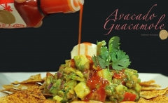 Avocado Guacomole Red Pepper Finishing Vinegar pouring email
