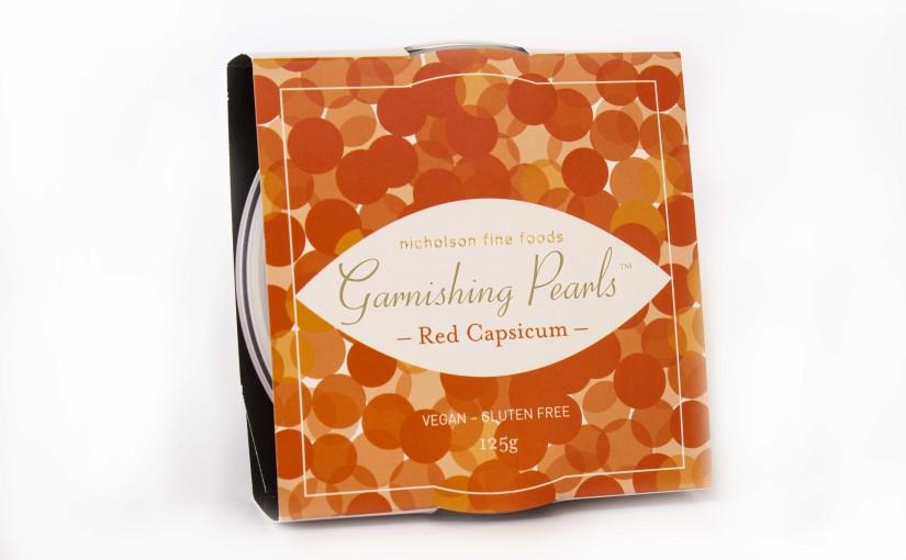 Garnishing Pearls 125g Red Capsicum