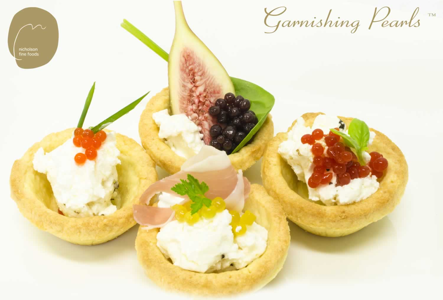 garnishing-Pearls-with-goats-cheese