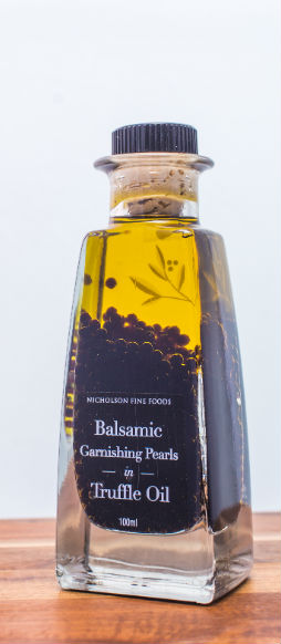 Product Image Balsamic Garnishing Pearls in Truffle Oil 100ml